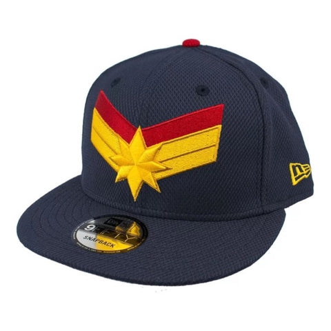MARVEL CAPTAIN MARVEL LOGO Navy New Era 9Fifty Snapback Cap