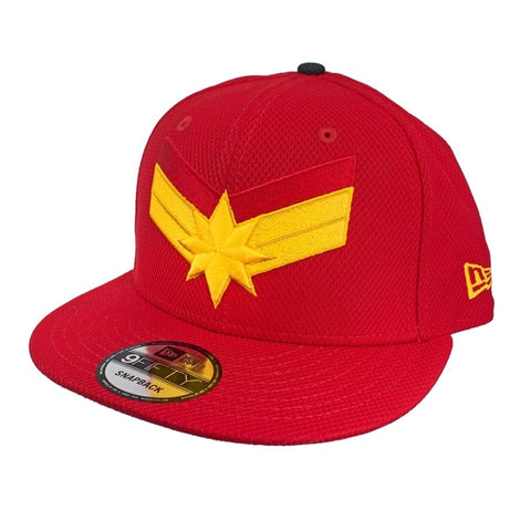 MARVEL CAPTAIN MARVEL LOGO RED New Era 9Fifty Snapback Cap