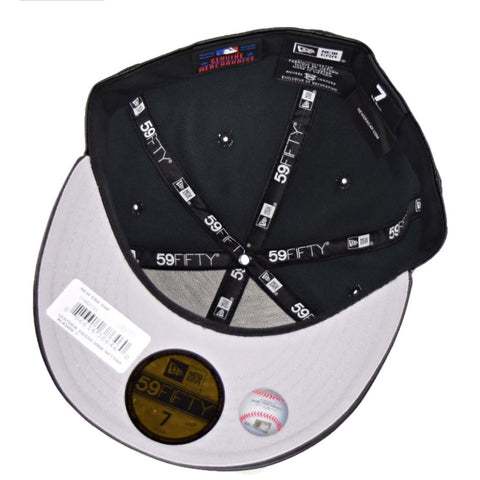 5c70a4d61cc MLB Leather Squad New York Yankees Black New Era 59Fifty Fitted Cap ...