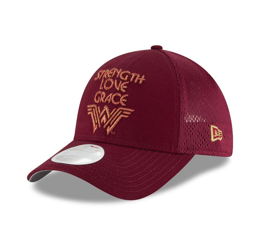 DC Comics Wonder Woman Strength Love Grace Mesh New Era 9Forty Snapback Cap