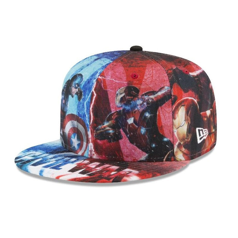 66aae406e4c76 Marvel Captain America Civil War All-Over New Era 59Fifty Fitted Cap –  urban TEE