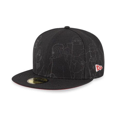 Naruto Akatsuki Black New Era 59Fifty Fitted Cap
