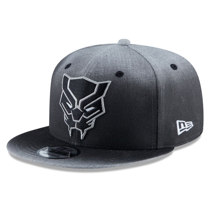 Marvel Black Panther Logo New Era 9Fifty Dark Grey Snapback Cap