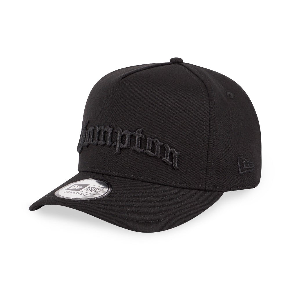 Compton Black New Era 9Forty D-Frame Strapback Cap