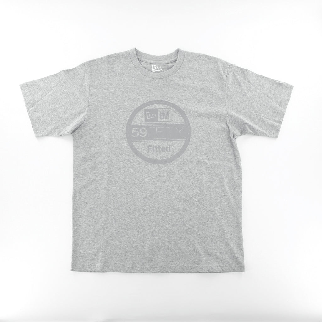 New Era Basic 59Fifty Reflective Fitted Sticker Grey T-Shirt