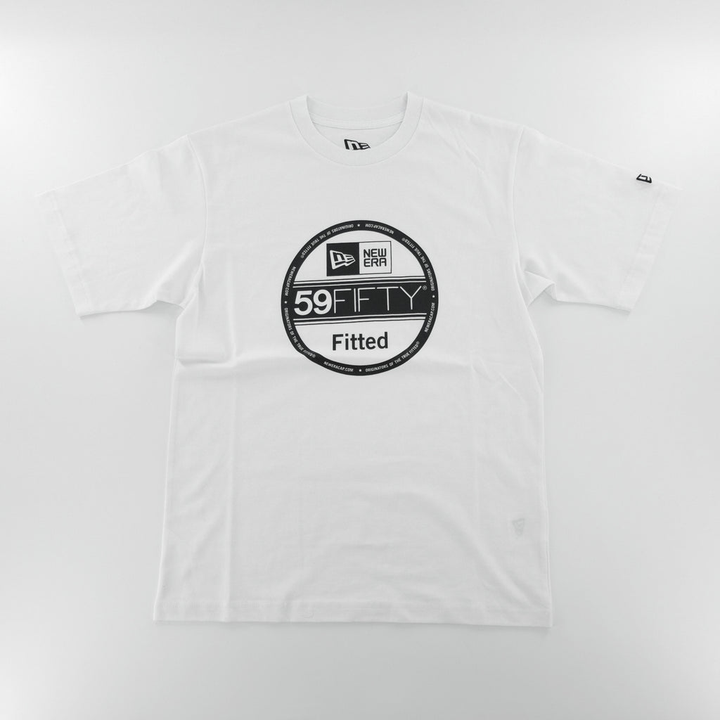 New Era Basic 59Fifty Fitted Sticker White T-Shirt