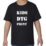 CUSTOM DTG PRINT (Direct To Garment) on Gildan Premium Cotton KIDS T-Shirt