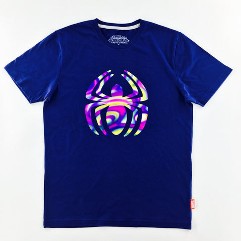 PREMIUM Marvel Spider-Man Foil Logo Navy T-Shirt (urban TEE Exclusive)