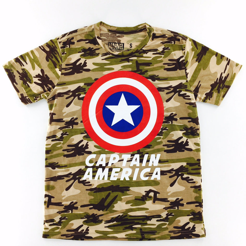 Marvel Captain America Brown Camo Shield T-Shirt