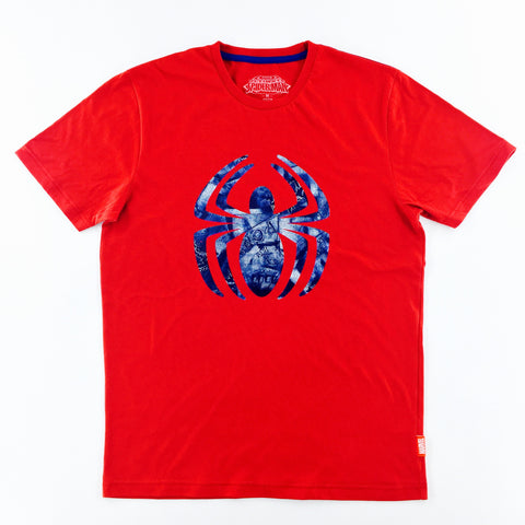 PREMIUM Marvel Spider-Man Foil Logo Red T-Shirt (urban TEE Exclusive)