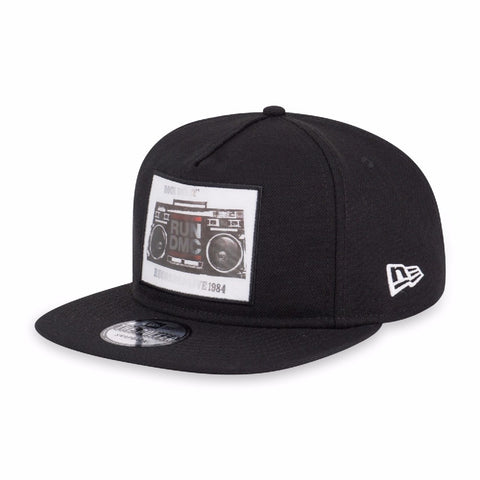 Run DMC Boombox New Era The Golfer Black Strapback Cap