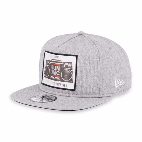 Run DMC Boombox New Era The Golfer Heather Grey Strapback Cap