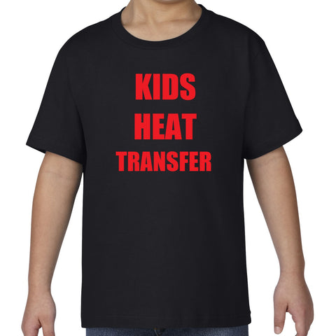 CUSTOM HEAT TRANSFER PRINT on Gildan Premium Cotton Kids T-Shirt