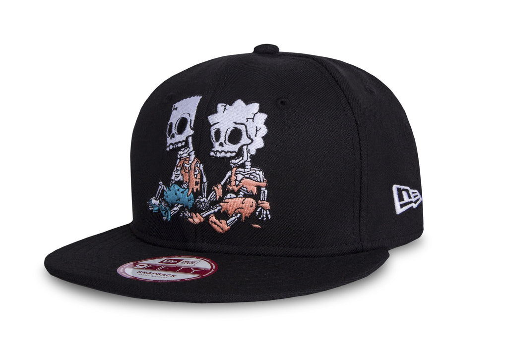 The Simpsons Bart and Lisa Skeletons New Era 9Fifty Snapback Cap