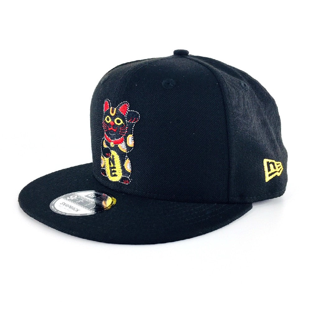 Maneki Neko Black New Era 9Fifty Snapback Cap (Malaysia Exclusive)
