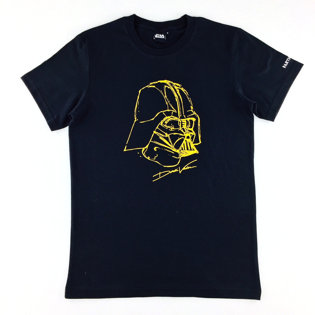 Star Wars Classic Darth Vader Gold Gel Printed T-Shirt