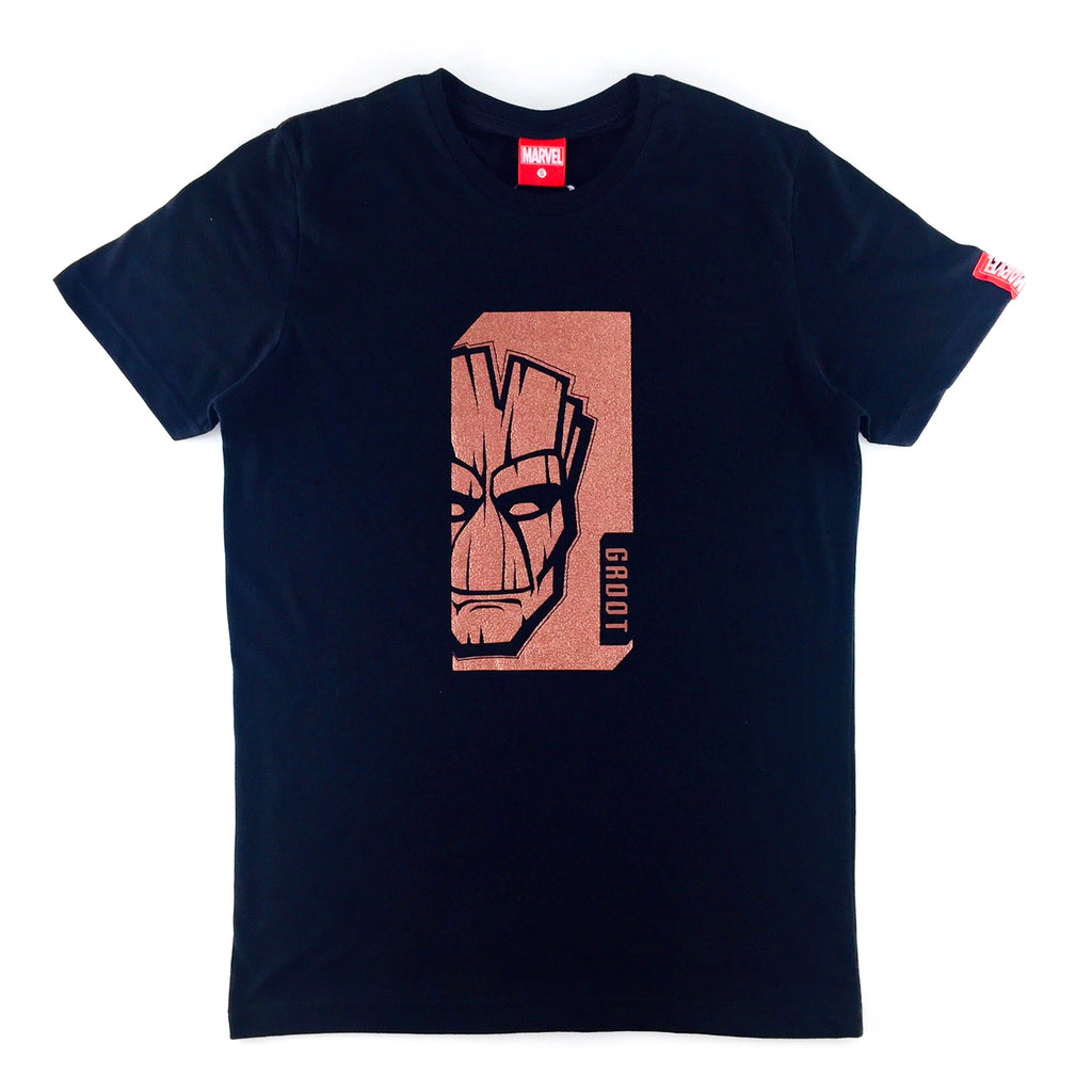 PREMIUM Marvel Groot Emboss Leather Symbol T-Shirt