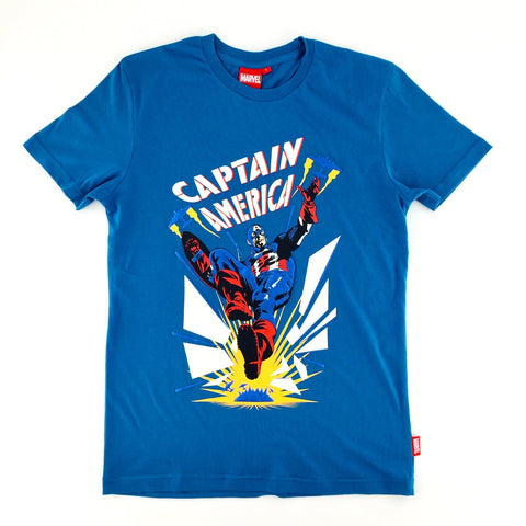 PREMIUM Marvel CAPTAIN AMERICA KICK Glow-in-the-Dark T-Shirt