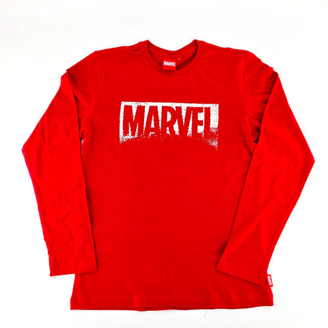 PREMIUM SNOWFLAKE MARVEL LOGO Glow-in-the-Dark Long Sleeve T-Shirt