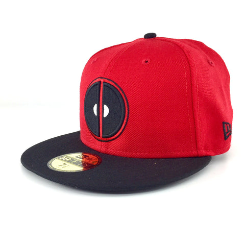 Marvel Deadpool Symbol Red-Black New Era 59Fity Fitted Cap – urban TEE 2d7b7b6ee77