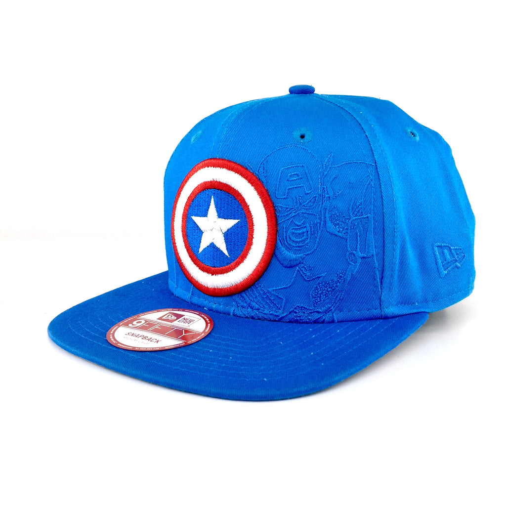 Panel Pop Marvel Captain America New Era 9Fifty Snapback Cap
