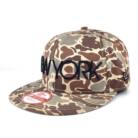 New Era Brand City Statement New York Camo 9Fifty Snapback Cap