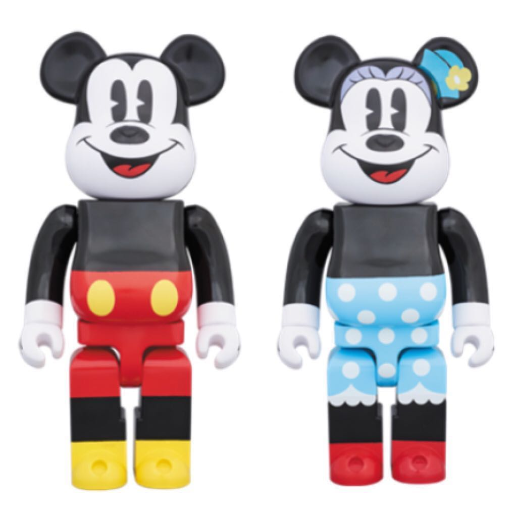 BEARBRICK 1000% Mickey Mouse & Minnie