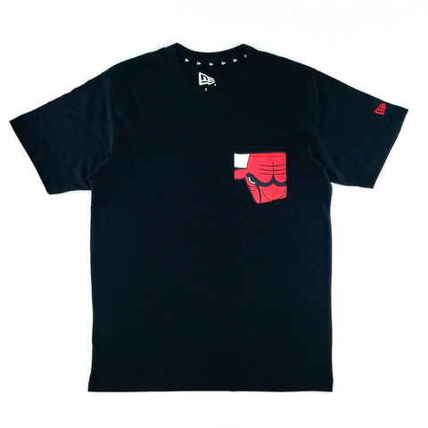 NBA Chicago Bulls New Era Pocket Black T-Shirt
