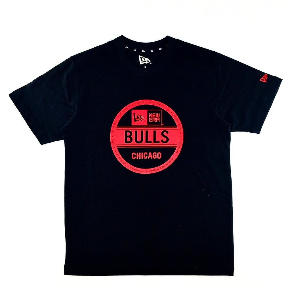 NBA Chicago Bulls New Era Sticker Black T-Shirt