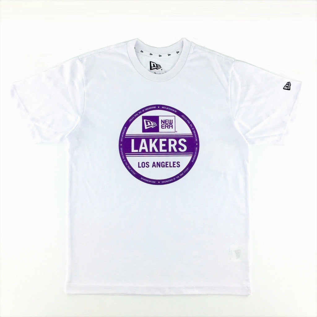 82293be8 NBA Los Angeles Lakers New Era Sticker White T-Shirt – urban TEE