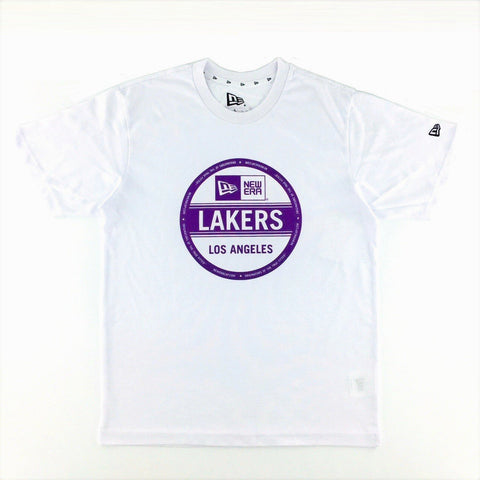 NBA Los Angeles Lakers New Era Sticker White T-Shirt