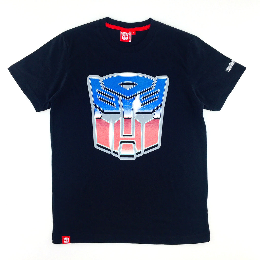 TRANSFORMERS Autobot Shining Red-Blue Logo T-Shirt