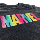 PREMIUM Marvel Studded Rainbow Logo Kids T-Shirt