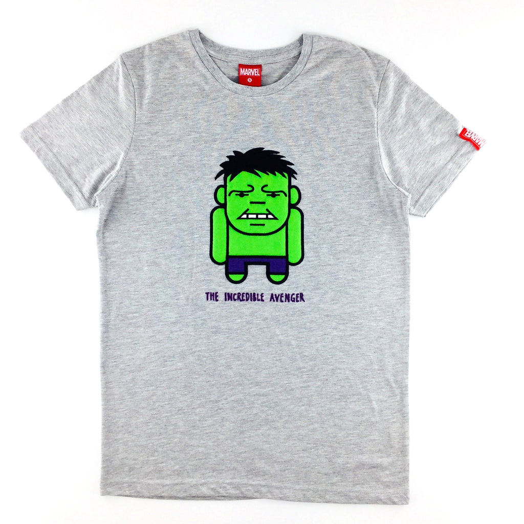 PREMIUM Marvel Kawaii Hulk Embroidered Patch T-Shirt