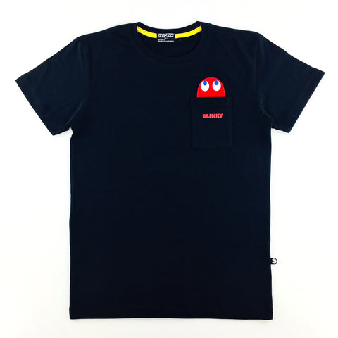 PAC-MAN Blinky Black Pocket T-Shirt