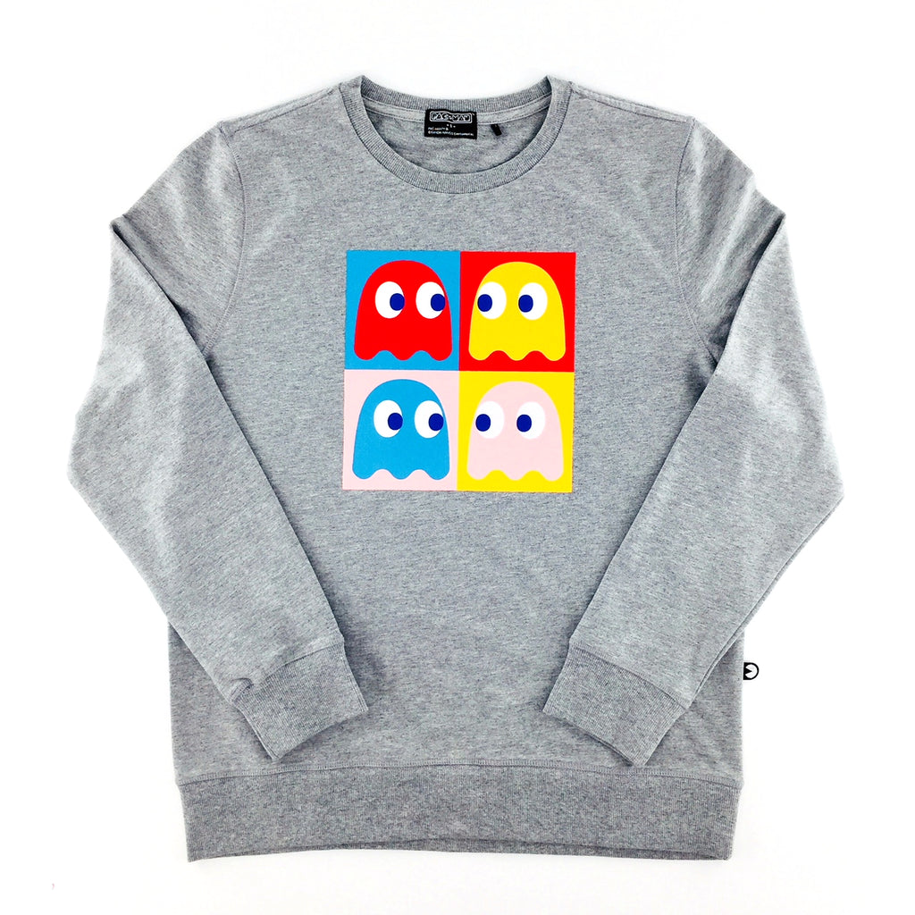 PAC-MAN Basic Melange Grey Sweatshirt