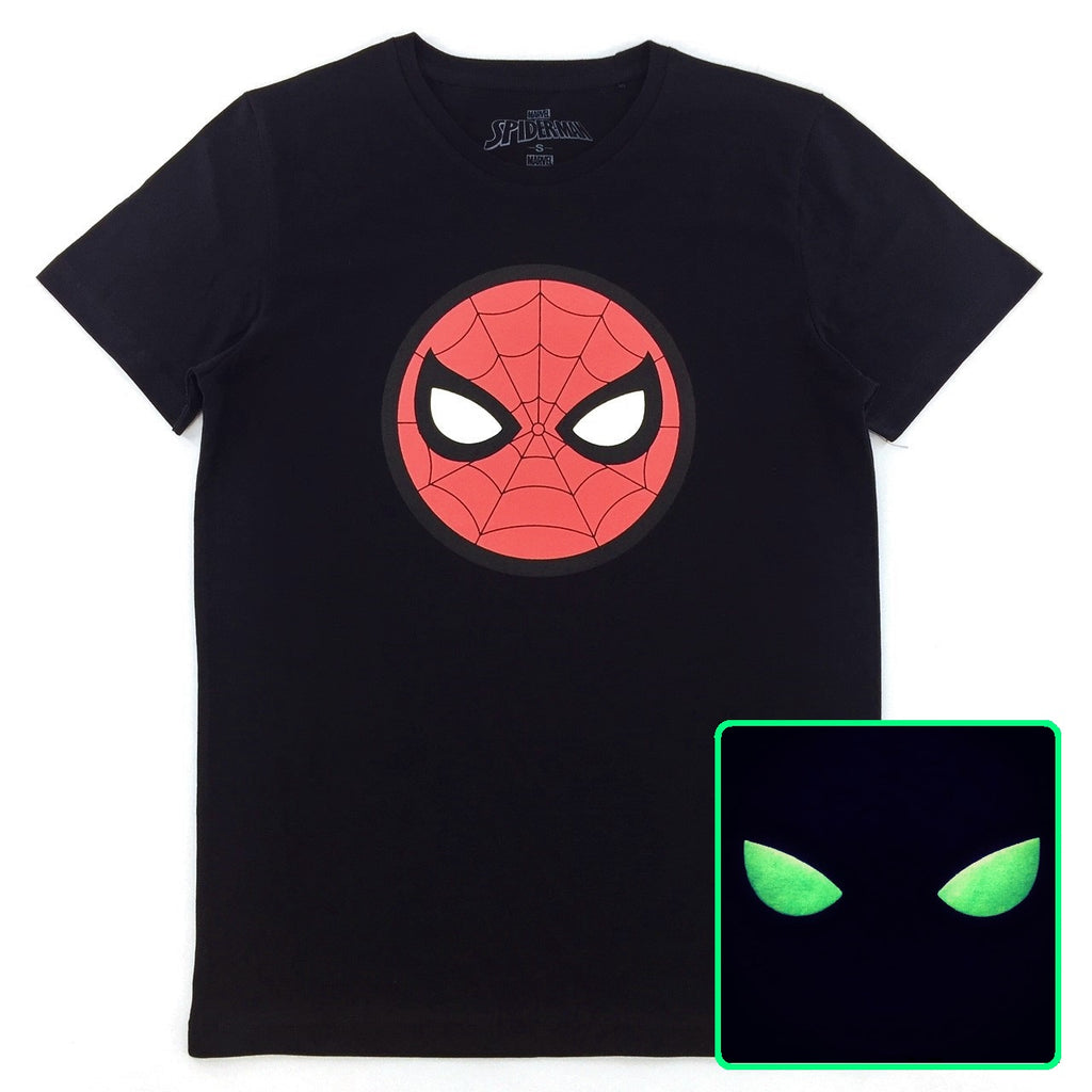 PREMIUM Marvel x urban TEE SPIDER-MAN Glow-in-the-Dark Head Logo T-Shirt