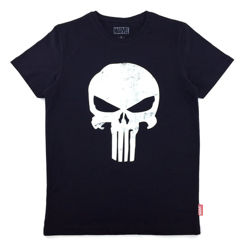 PREMIUM urban TEE x Marvel PUNISHER Glow-in-the-Dark Logo T-Shirt