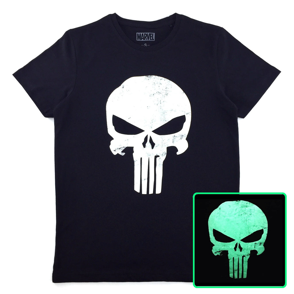 PREMIUM Marvel x urban TEE PUNISHER Glow-in-the-Dark Logo T-Shirt