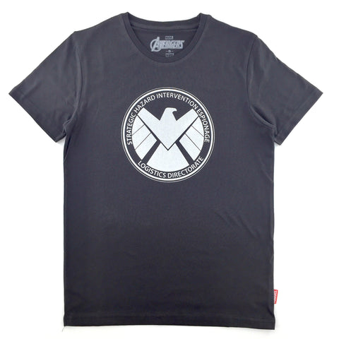 PREMIUM Marvel x urban TEE SHIELD Silver Logo T-Shirt