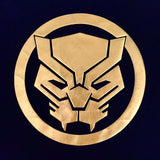 PREMIUM Marvel x urban TEE BLACK PANTHER HIGH DENSITY GOLD LOGO T-Shirt