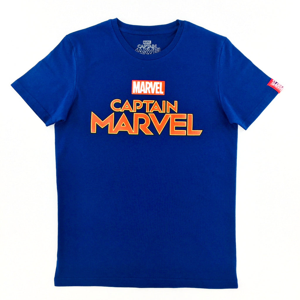 PREMIUM Marvel CAPTAIN MARVEL TITLE LOGO T-Shirt