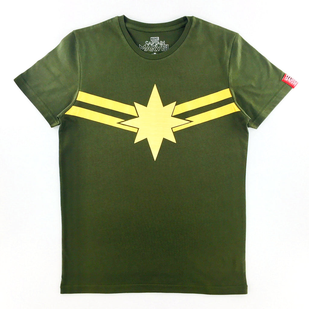 PREMIUM Marvel CAPTAIN MARVEL GOLD STAR T-Shirt