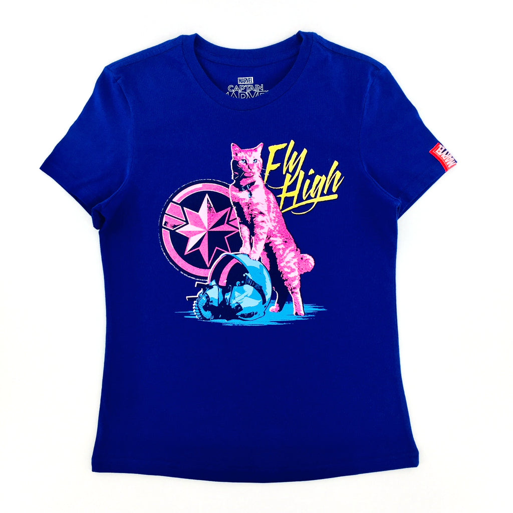 PREMIUM Marvel CAPTAIN MARVEL FLY HIGH Female T-Shirt