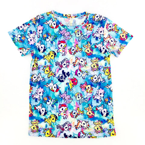 Tokidoki Watercolor Ponies Unicorno T-Shirt (US Import)