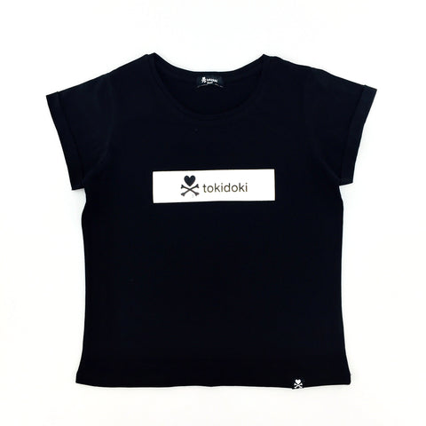 Tokidoki Basic Flock Logo Black Female T-Shirt
