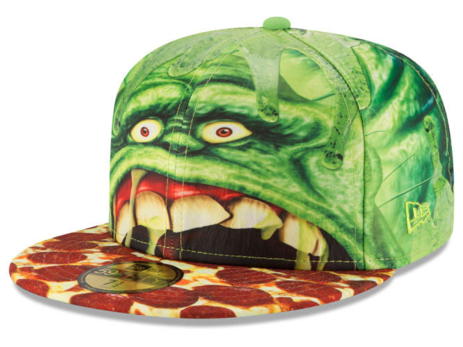 Ghostbusters Slimer Character Face New Era 59Fifty Fitted Cap