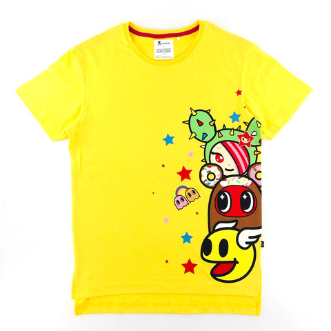 Tokidoki x Pac-Man Sandy Donutella Yellow Unisex T-Shirt