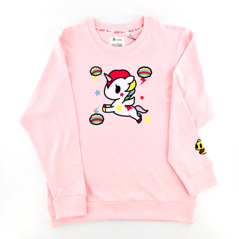 Tokidoki x Pac-Man Stellina Light Pink Unisex Sweater