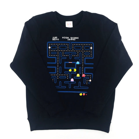 PAC-MAN Video Gameplay Black Unisex Sweatshirt